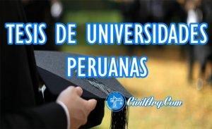 TESIS DE UNIVERSIDADES PERUANAS