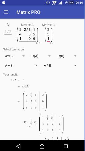Matrices PRO