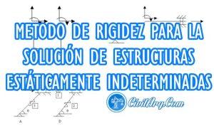 METODO DE RIGIDEZ PARA LA SOLUCIÓN DE ESTRUCTURAS ESTÁTICAMENTE INDETERMINADAS