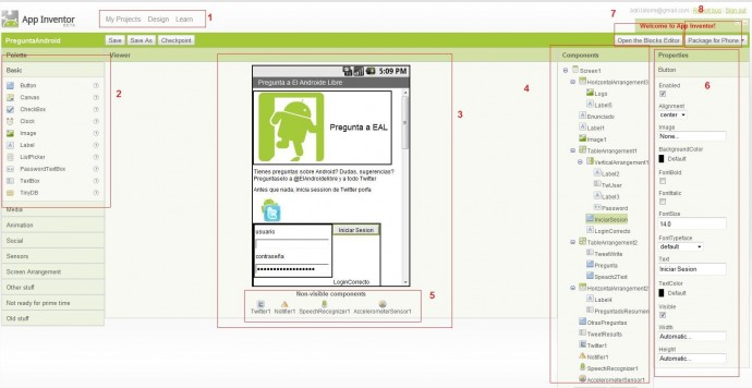 hacer aplicaciones gracias a un sistema muy intuitivo a base de bloques