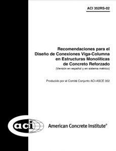 ACI 352RS-02: Diseño de Conexiones Viga - Columna de Concreto Armado