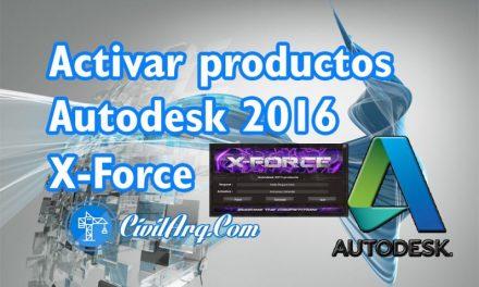 ACTIVAR productos Autodesk 2016 | X-Force 2016 (32/64 bit)