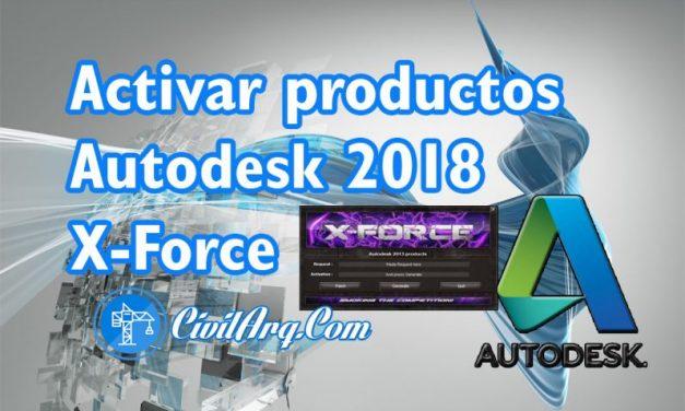ACTIVAR productos Autodesk 2018 | X-Force 2018 (32/64 bit)