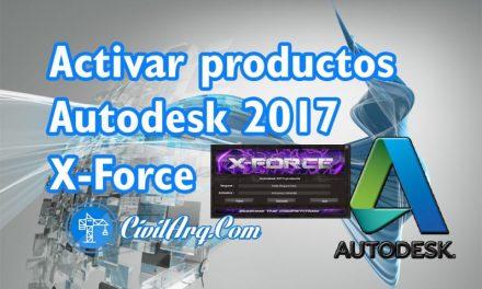 ACTIVAR productos Autodesk 2017 | X-Force 2017 (32/64 bit)