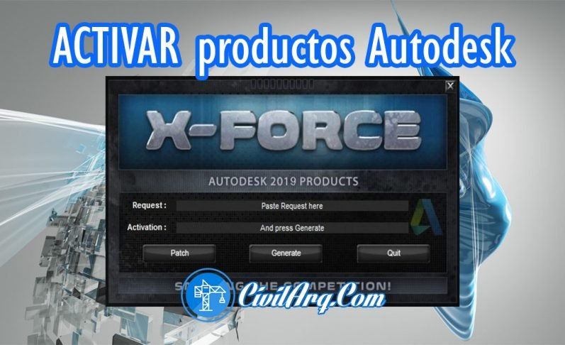 X-FORCE Autodesk 2009 a 2019