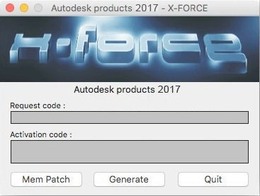 Autodesk 2017 All Products Keygen MAC by X Force