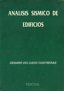 Análisis Sísmico de Edificios - Genaro Delgado Contreras | Libro PDF