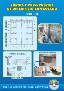 Costos y Presupuestos de un Edificio con Sótano Vol. II - Genaro Delgado Contreras | Libro PDF