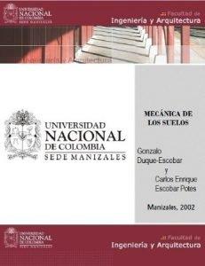 Mecánica de los Suelos - Gonzalo Duque Escobar y Carlos Enrique Escobar | Libro PDF