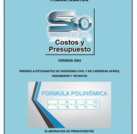 Curso de Capacitación para Costos y Presupuestos con S10 – Versión 2003