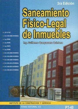 Saneamiento Físico-Legal de Inmuebles – Guillermo Alfredo Quequezana Quintana