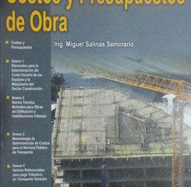 Costos y Presupuestos de Obra – Miguel Salinas Seminario