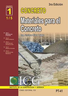 Materiales para el Concreto – Enrique Rivva Lopez
