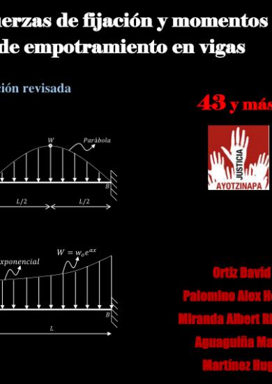 Fuerzas de Fijación y Momentos de Empotramiento en Vigas - David Ortiz Soto   Libro PDF
