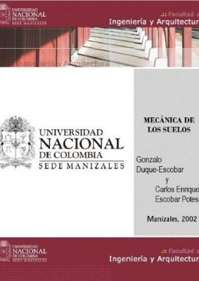 Mecánica de los Suelos - Gonzalo Duque Escobar y Carlos Enrique Escobar   Libro PDF