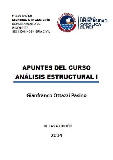 Apuntes del curso Análisis Estructural I - Gianfranco Ottazzi | LIBRO PDF
